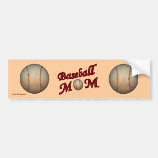 Baseball Mom Cute Bumper Sticker