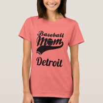 Baseball Mom Detroit T-Shirt