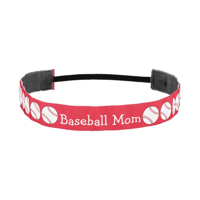 Baseball Mom Elastic Headbands
