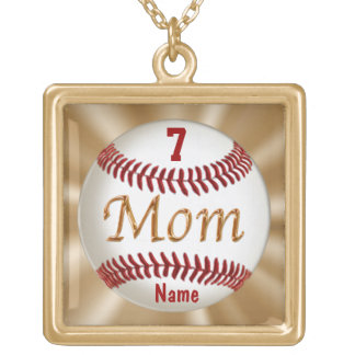 Baseball Mom Jewelry with Child's NUMBER and NAME