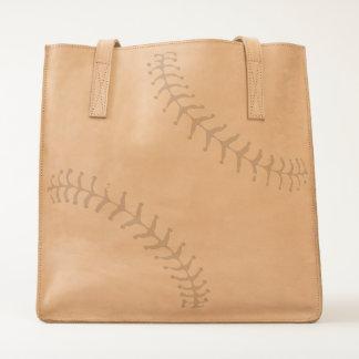 Baseball Mom Leather Tote