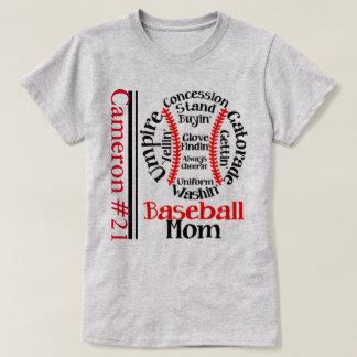 """""""Baseball Mom"""" Monogram WOMEN'S T-SHIRT"""
