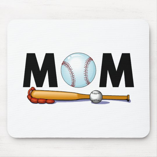Baseball Mom Mouse Pad