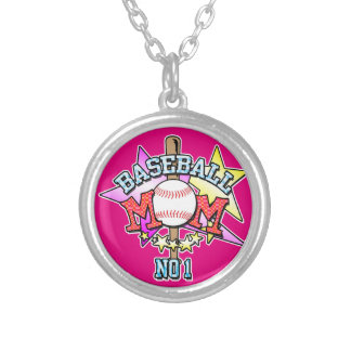 Baseball Mom - Number 1 Silver Plated Necklace