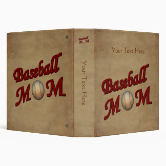 Baseball Mom Personalized 3 Ring Binder