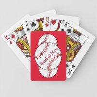 Baseball Mom Playing Cards