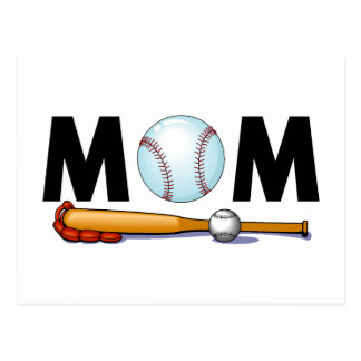 Baseball Mom Postcard