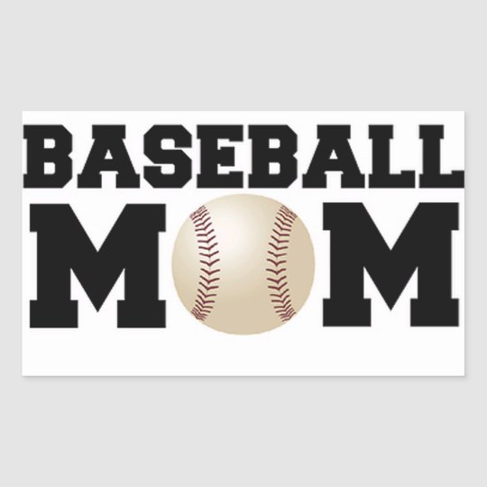 Baseball Mom Rectangular Sticker