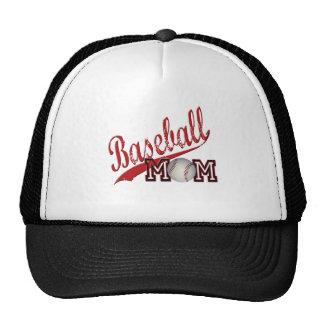 Baseball Mom Red Mesh Hats