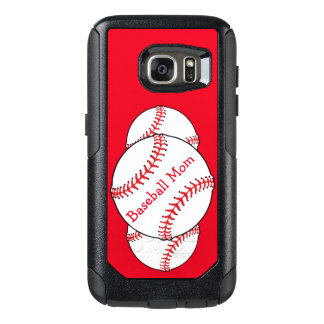 Baseball Mom Red OtterBox Samsung Galaxy S7 Case