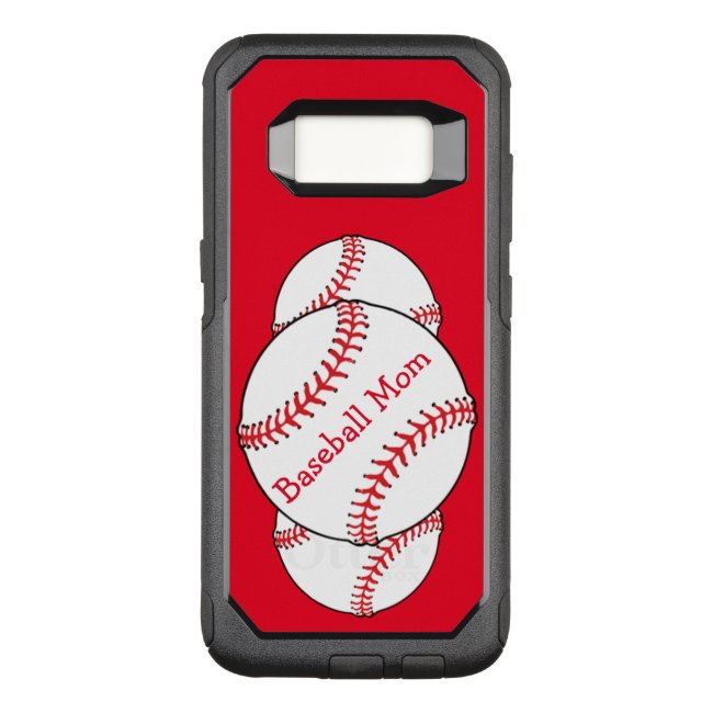 Baseball Mom Red OtterBox Samsung Galaxy S8 Case