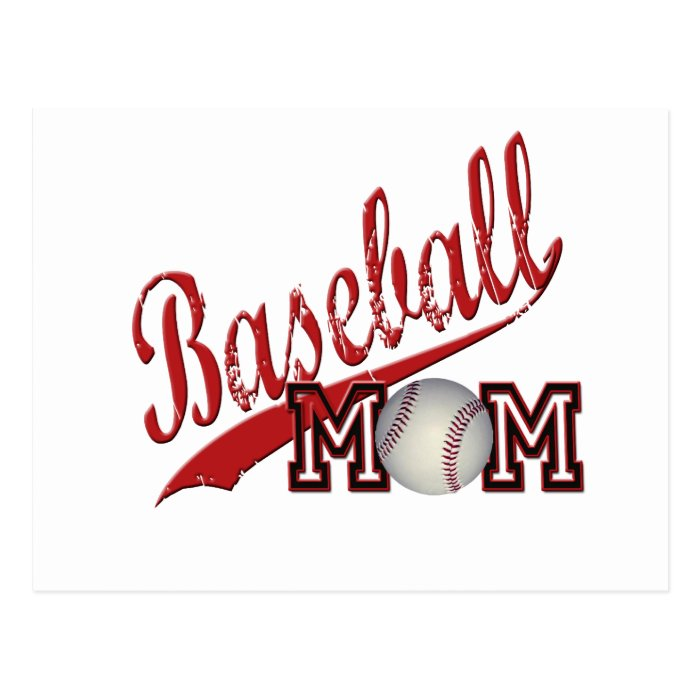 Baseball Mom Red Postcard