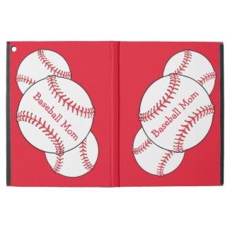 Baseball Mom Red White Ball Sports iPad Pro Case