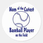 Baseball Mom Round Stickers