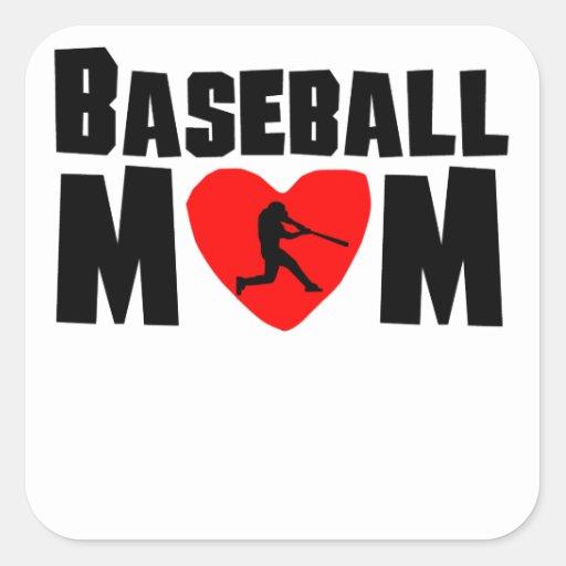 Baseball Mom Square Sticker