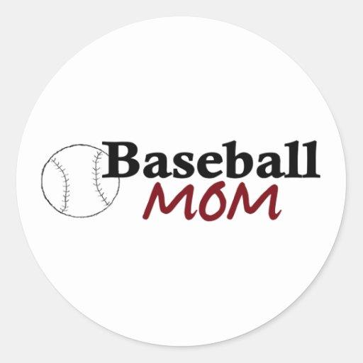 Baseball Mom Stickers