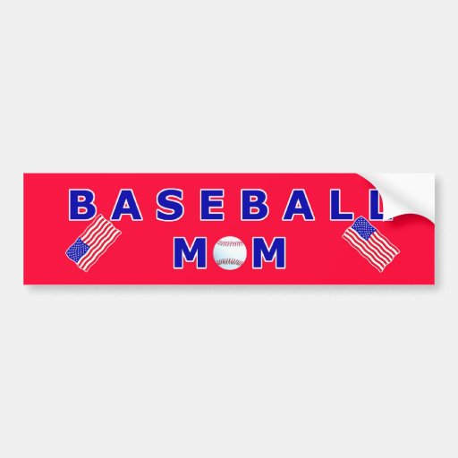 Baseball Mom T-Shirts and Unique Gift Products Car Bumper Sticker