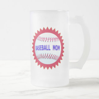 Baseball Mom T-Shirts and Unique Gift Products Frosted Glass Beer Mug