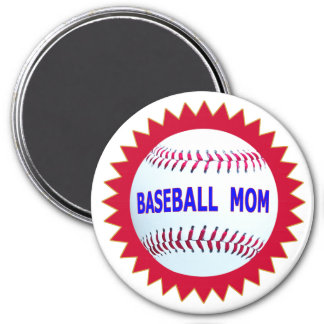 Baseball Mom T-Shirts and Unique Gift Products 3 Inch Round Magnet
