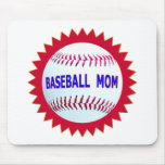 Baseball Mom T-Shirts and Unique Gift Products Mouse Pad