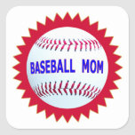 Baseball Mom T-Shirts and Unique Gift Products Square Sticker