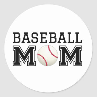 Baseball mom, text design for t-shirt, shirt classic round sticker