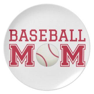 Baseball mom, text design for t-shirt, shirt melamine plate