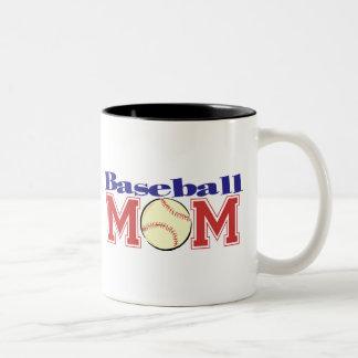 Baseball Mom Two-Tone Coffee Mug