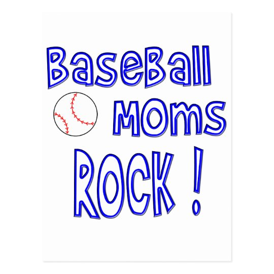 Baseball Moms Rock ! (blue) Postcard