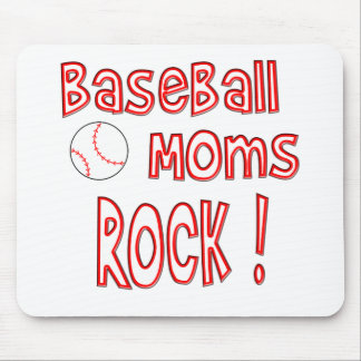 Baseball Moms Rock ! (red) Mouse Pad