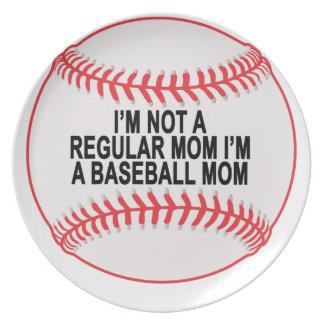 Baseball Moms T Shirts.png Dinner Plate