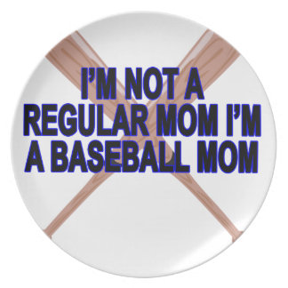 Baseball Moms T Shirts '.png Melamine Plate