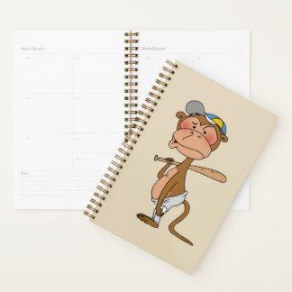 baseball monkey cartoon planner