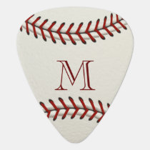Baseball Monogram Template Guitar Pick