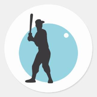 Baseball more batter classic round sticker