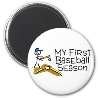 Baseball My First Baseball Season 2 Inch Round Magnet