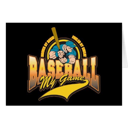 Baseball My Game Card