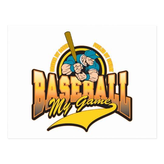 Baseball My Game Postcard