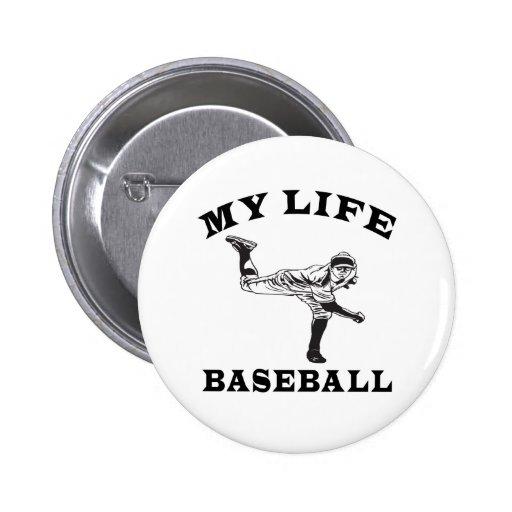 Baseball My Life Button