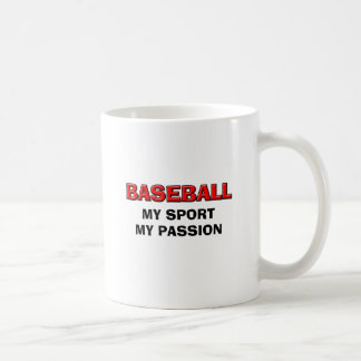 Baseball My Sport My Passion Coffee Mug