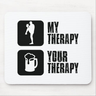 baseball my therapy designs mouse pad