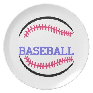 Baseball Name Drop Melamine Plate