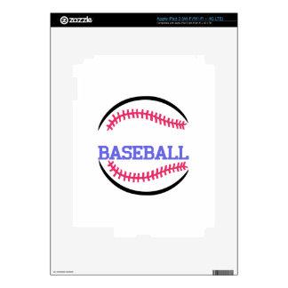 Baseball Name Drop Skin For iPad 3