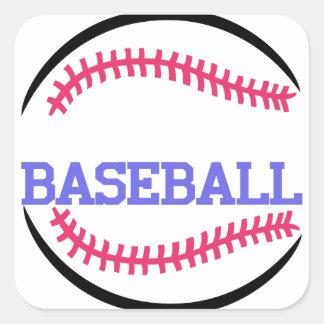 Baseball Name Drop Square Sticker