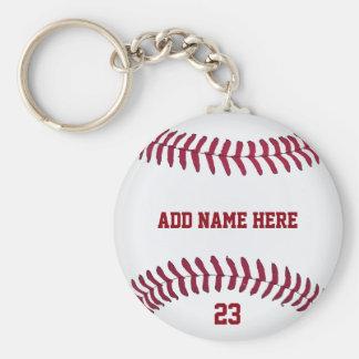 Baseball Name Number Customized Keychain