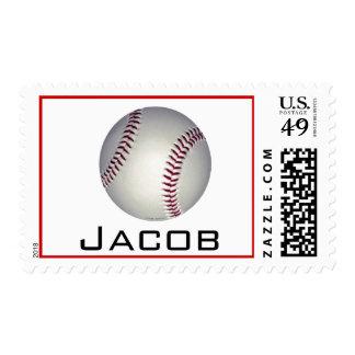 baseball name stamp