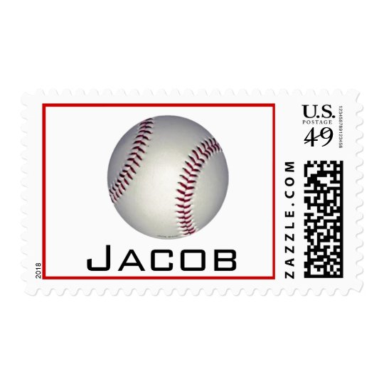 baseball name stamp