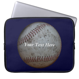 Baseball Navy Blue And Name Computer Sleeve