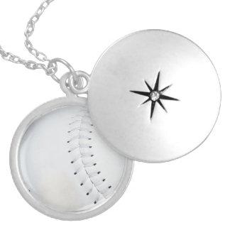Baseball Necklace/Locket Round Locket Necklace