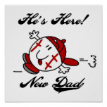 Baseball New Dad T-shirts and Gifts Posters